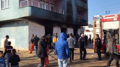 Tekstil atölyesindeki yangın mahalleliyi sokağa döktü