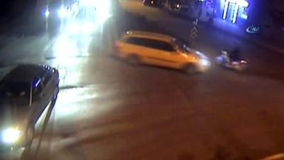 Sivas'ta dikkatsizliğin neden olduğu kazalar kamerada