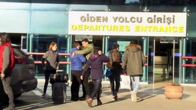Trabzon Havalimanı'nda uçağın pistten çıkması - yolcuların valizleri teslim ediliyor - TRABZON