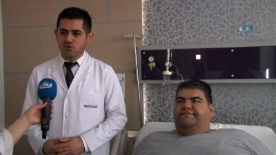 223 kilogram olan obezite hastası 1 yılda 100 kilo verecek