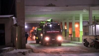 Askeri araçlar Halep'in Azez ilçesine doğru geçiş yaptı - AZEZ