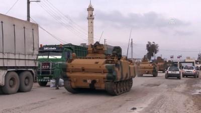 Askeri araçlar Kilis sınırından Afrine doğru ilerliyor - KİLİS