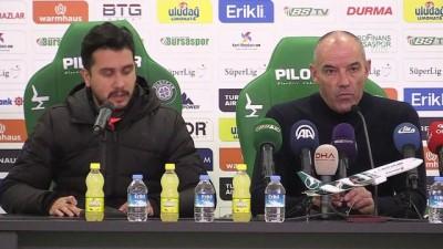 rektor - Bursaspor-Medipol Başakşehir maçının ardından - Paul Le Guen - BURSA