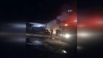 Kereste fabrikasında çıkan yangın korkuttu