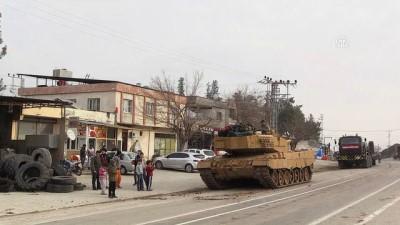 Sınırdaki birlikler tank ve zırhlı personel taşıyıcılarla takviye edildi - KİLİS