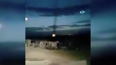 hanli -  TSK Afrin'i obüslerle böyle bombardımana tutuyor