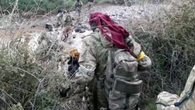 TSK destekli ÖSO unsurlarının Afrin'in kuzey batısında intikal görüntüleri