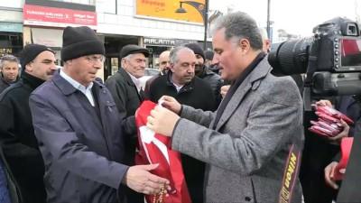 hukumet - Zeytin Dalı Harekatı - Vatandaşlara 44 bin bayrak dağıtıldı - MALATYA