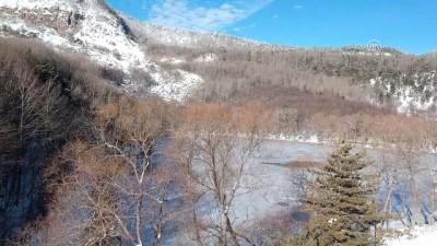 Başkentteki krater gölü buz tuttu - ANKARA