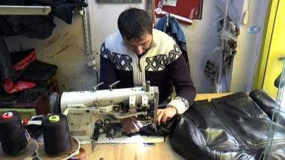 """Deri ustası Erkan Karakuş: """"İmitasyon mal dayanıklı değildir; sıcakta yumuşar, soğukta sertleşir çatlar"""""""