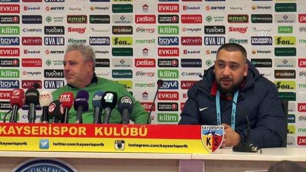 rektor - Kayserispor - Galatasaray maçının ardından - Kayserispor Teknik Direktörü Marius Sumudica - KAYSERİ
