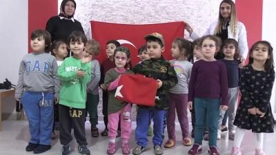 Minik öğrencilerden 'Zeytin Dalı Harekatı''na destek - AMASYA