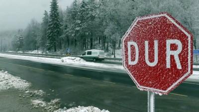 Bolu Dağı'nda kar yağışı ve sis (2) - DÜZCE İzle