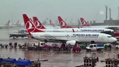 Kar yağışı - Atatürk Havalimanı - İSTANBUL