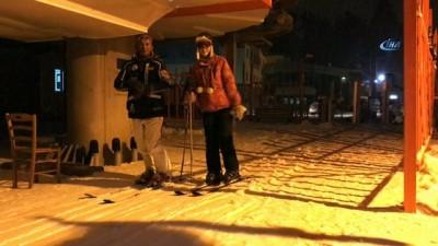 Sarıkmış Cıbıltepe Kayak Merkezi'nde gece kayağı yapıldı