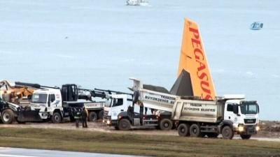 Trabzon'da pistten çıkan uçak hurdaya ayrılacak