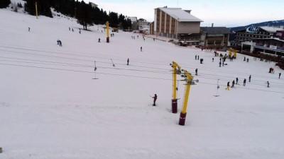 Uludağ'da poşet ski