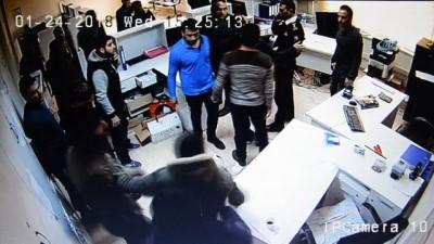 Dicle Elektrik'e yapılan çirkin saldırı kamerada