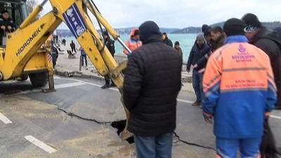 İSKİ'den çöken yol ile ilgili açıklama: Sarıyer'de bazı mahallelere su verilmeyecek