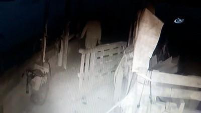 maskeli hirsizlar -  Kar maskeli jeneratör hırsızları kamerada