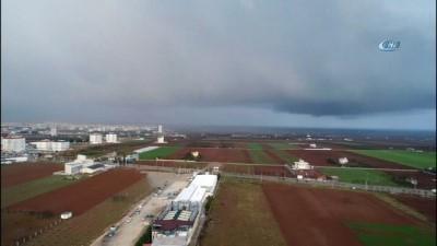 Kilis'ten Suriye'ye uzanan gökkuşağı böyle görüntülendi