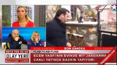 Muhabir canlı yayında yere kapaklandı