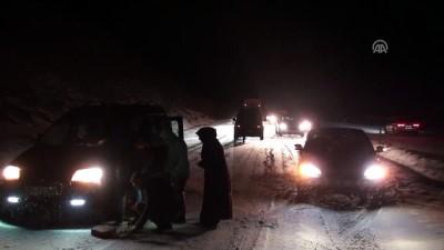 Tokat-Sivas karayolunda kar yağışı ve tipi etkili oluyor - TOKAT
