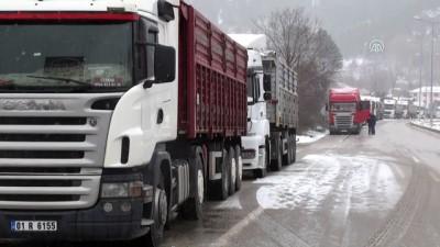 Tokat-Sivas karayolunda kar yağışı ve tipi - TOKAT
