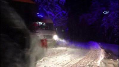Yoğun kar nedeniyle mahsur kalan Hüsne teyze için seferber oldular