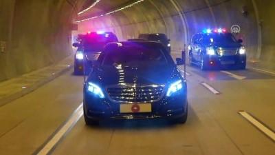 Cumhurbaşkanı Erdoğan, makam otomobiliyle Kasımpaşa-Hasköy Tünelinden geçti - İSTANBUL