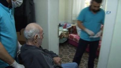 Nilüfer'de hasta ve bakıma muhtaç yaşlılar mutlu