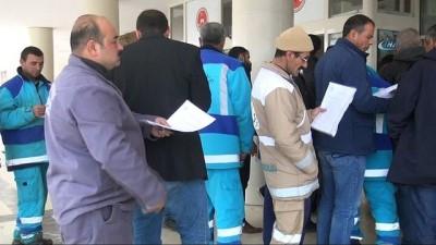 Şanlıurfa'da taşeron işçilerin 'kadro evrakları' kuyruğu