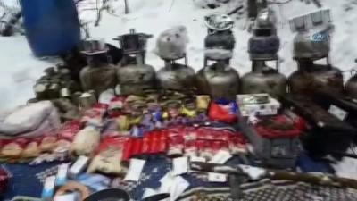 Erzincan'da teröristlere ait 2 adet sığınak ve 4 depo imha edildi