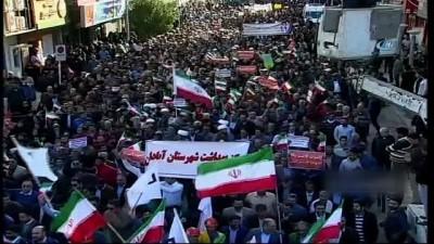 -Milyonlarca İranlı Devrime Bağlılık Yürüyüşü Gerçekleştirdi - 'Kahrolsun Fitne', 'Kahrolsun ABD', 'Kahrolsun İsrail'', 'Kahrolsun Suud Rejimi' Sloganları Atıldı