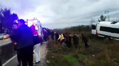 Okul servisi kaza yaptı: 4 öğretmen yaralandı