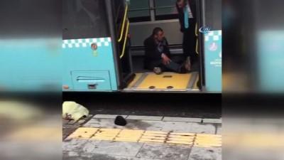 Özel halk otobüsü şoförünün tinerci ile imtihanı kamerada