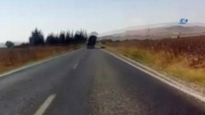 Aşırı yük taşıyan kamyon tehlike saçtı