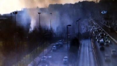 E-5 Otoyolu Avcılar mevkiinde yol kenarında yoğun duman yükseliyor. Olay yerine çok sayıda itfaiye ekibi yönlendirildi