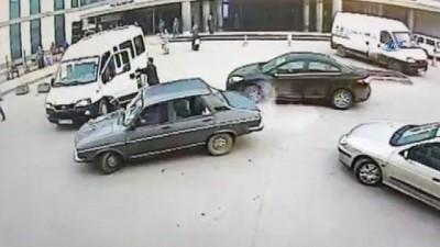 Güvenlik görevlisinin darp edilme anları kameralara böyle yansıdı