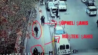 Kadının cep telefonunu çalan şahıs suçüstü yakalandı...Yankesici kamerada