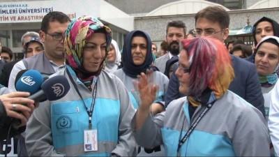 Konya'da taşeron işçilerin kadro sevinci