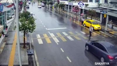 Sakarya'daki kazalar mobese kamerasına yansıdı