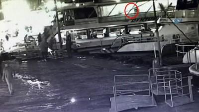 Üsküdar'da olta terörü kamerada