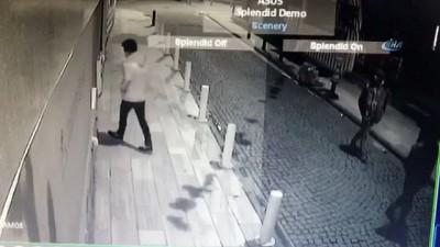 Alarmı duyan hırsızların panik anları kameralara böyle yansıdı