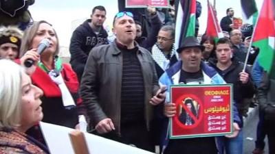 - Filistinliler, Kudüs Rum Ortodoks Patriği Theophilus'u protesto etti