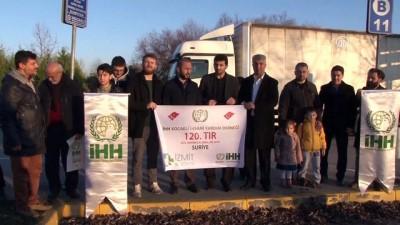 İHH Kocaeli Temsilciliği'nden Suriye'ye 120. yardım tırı - KOCAELİ