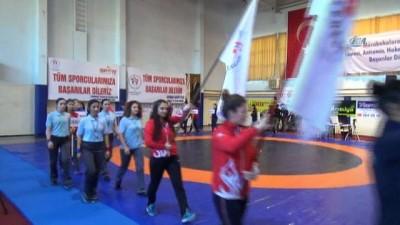 Türkiye Kadınlar Güreş Şampiyonası Tekirdağ'da başladı