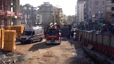 Antalya'da 6 katlı inşaatta intihar teşebbüsü
