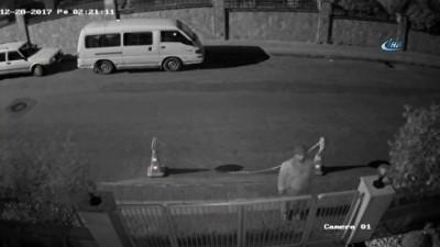Motosiklet hırsızı güvenlik kamerasında