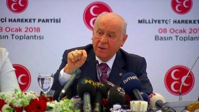 Bahçeli: 'MHP, ittifak olursa ittifakla, olmazsa kendi partisi olarak milletvekilliği seçimlerine girer' - ANKARA
